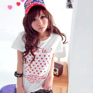 "Buy VeJanie Short-Sleeve ""Heart"" Print Tee 1022763327"