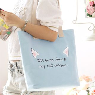 Lettering Canvas Tote Bag 1060927476