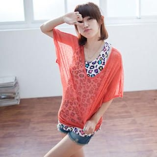 Buy LULUS Dolman-Sleeve Sheer Knit Top 1023056258