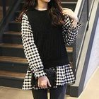 Plaid Tunic Black & White - One Size 1596