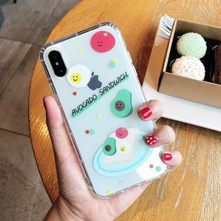 Image of Avocado Print Transparent Phone Case - iPhone XR / XS / X / 8 / 8 Plus / 7 / 7 Plus / 6s / 6s Plus