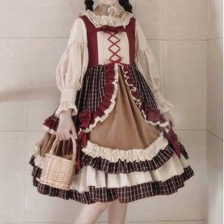 Sleeveless | Plaid | Dress | Size | Red | One