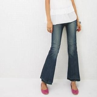 Picture of BBon-J Boot-cut Washed Jeans 1022949945 (Womens Boot-Cut Pants, BBon-J Pants, South Korea Pants)