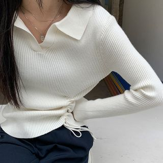 Long-sleeve | Drawstring | Top