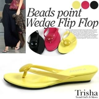 Buy Trisha Patent Thong Sandals 1022711748