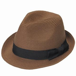 Picture of GRACE Bow-Accent Woven Fedora Brown - One Size 1022238658 (GRACE, Mens Hats & Scarves, Japan)