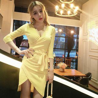 Long-Sleeve Tie-Waist Dress 1064190230