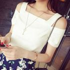 Cutout Shoulder Short-Sleeve T-shirt 1596