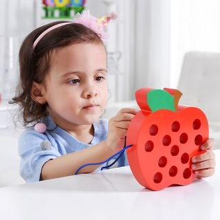 Kids Toy Sewing Apple and Worm 1061786312