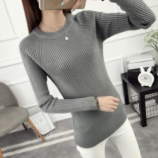 Long-Sleeve Ribbed Knit Top 1057065468