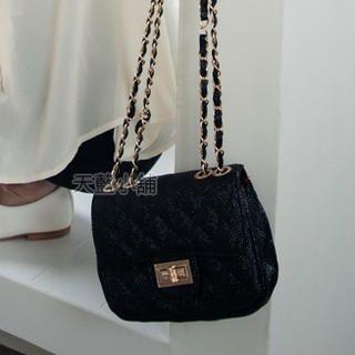 Chain-Strap Quilted Shoulder Bag