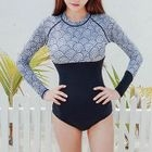 Patterned Long-Sleeve Swimsuit 1596