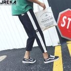 Colorblock Cropped Pants 1596