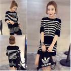 Set: Stripe Short-Sleeve Top + Shorts 1596
