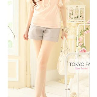 Buy Tokyo Fashion Cuffed Shorts with Woven Belt 1023027542