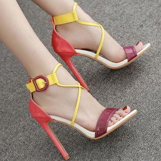 Stiletto | Strappy | Sandal | Block | Color | Heel