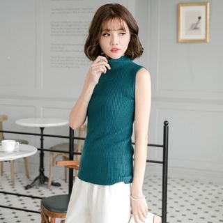 Sleeveless Rib Knit Top 1055085430