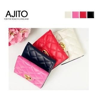 Picture of AJITO Quilted Genuine Leather Wallet 1022459275 (AJITO, Wallets, Korea Bags, Womens Bags, Womens Wallets)