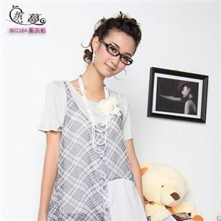 Buy Binman Set: Checked Vest + Two Tone Dress 1022552005