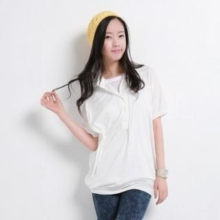 Picture of Celli Girl Dolman Sleeve Long Polo Shirt 1022753712 (Celli Girl Tees, Womens Tees, South Korea Tees, Causal Tops, Polo Shirts)