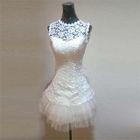 Sleeveless Lace Party Dress 1596