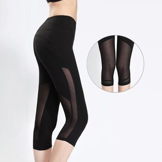 Mesh Panel Fitness Leggings 1061109566