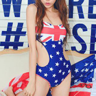 Union Jack and Star Print Swimsuit 1596