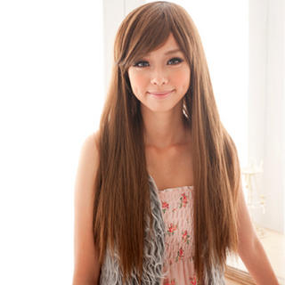 have medium to light brown hair that's pretty thick. Its this sort ...