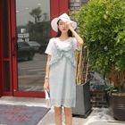 Set: Sleeveless Lace Dress + T-Shirt Dress 1596