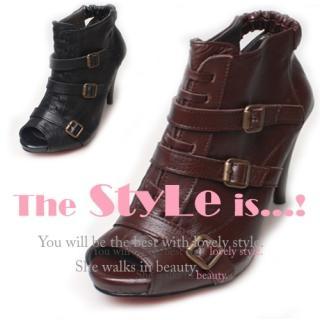 Buy Woorisin Genuine Leather Peep Toe Boots 1023040395