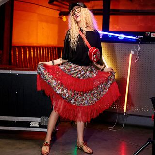 ELF SACK Floral Panel Maxi Skirt