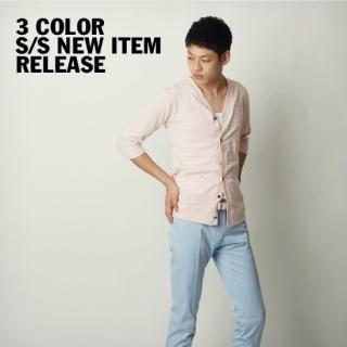 Picture of BoynMen 3/4 Sleeve Striped Top 1022735909 (BoynMen, Mens Knits, Korea)