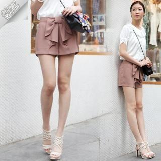 Buy Mango Ribbon Bow Front Shorts 1022990790