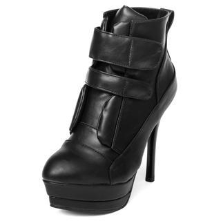 Velcro Ankle Stiletto Boots