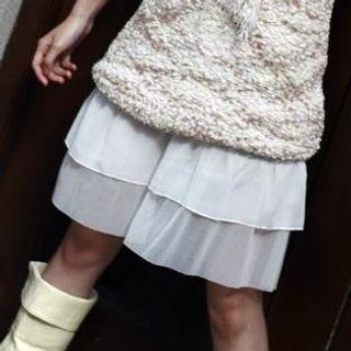 Buy Yammi Chiffon Hem Layered Slipdress white – One Size 1022277226