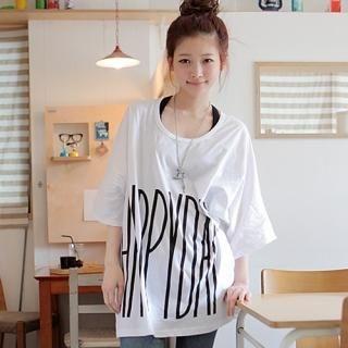Buy CLICK Happy Day Print Oversized Tee 1022517585
