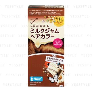 Mandom - Lucido-L Creamy Milk Hair Color (Chocolate Ganache) 1 set 1058069411