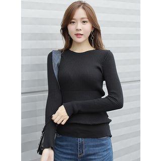 Long-Sleeve Ribbed T-Shirt 1061424205