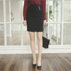 Metal-Trim Pencil Skirt 1596