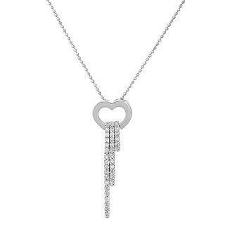 18K White Gold Dangling Pendant with Diamonds - United states