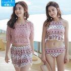 Couple Matching Swim Shorts/ Set: Printed Tankini + Cover-Up + Shorts 1596