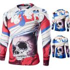 Skull Print Long Sleeve T-Shirt 1596