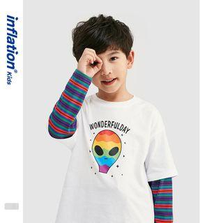 Two-Piece   T-Shirt   Print   Kid