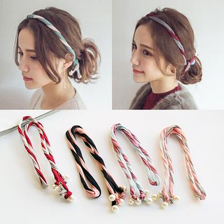 Image of Faux Pearl Twisted Headband