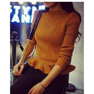 Ruffle Hem Sweater 1045513731