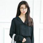 Plain Long-Sleeve Shirt 1596