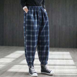 Plaid Jogger Pants