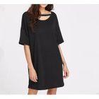 Cutout Short-Sleeve Knit Dress 1596