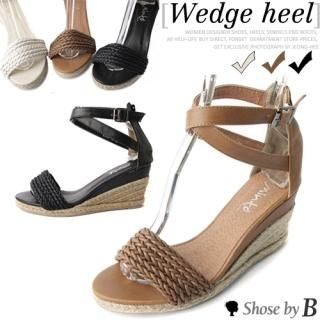Buy Shoes by B Woven Strap Wedge Sandals 1022792338