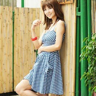 Buy 59 Seconds Polka Dot Sundress Dark Blue – One Size 1022791710